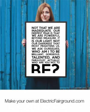Marianne Williamson Framed Poster
