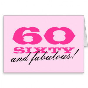60th birthday card for women 60 and fabulous ...