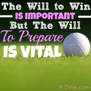 ... important, but the will to prepare is vital. #inspiration #qolf_quote