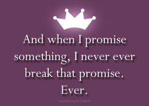 Truth, its a princess thing! It's sort of like a pinky promise a ...