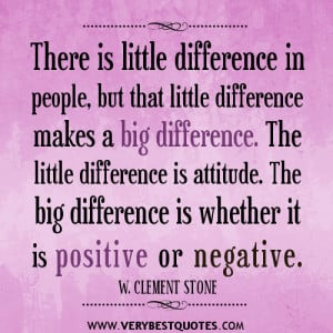 positive or negative attitude quotes.