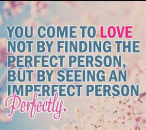 ... the perfect person, but by seeing an imperfect person perfectly