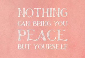Find peace within yourself