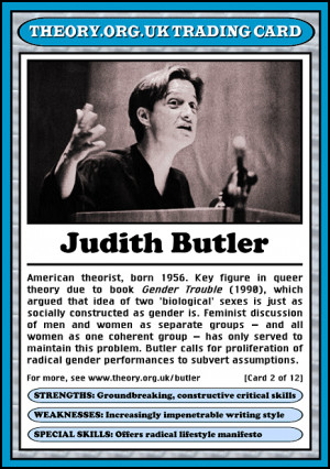 Judith Butler (1956 - ) [click on this image to find a video and brief ...