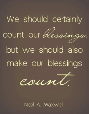 Count your blessing quote