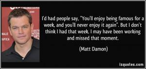 More Matt Damon Quotes