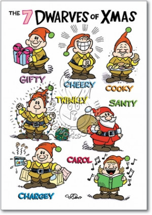 Dwarves Of Christmas Funny Greeting Card