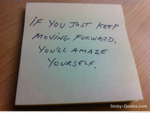 Moving Forward in Life Poems