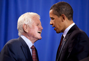 Ted Kennedy with President Obama