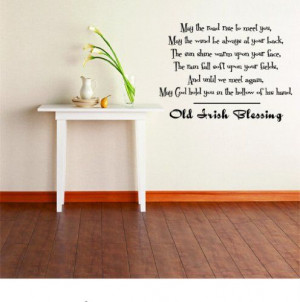 Old Irish Blessing - Irish Quote - Removable Stick On Print Sticker ...
