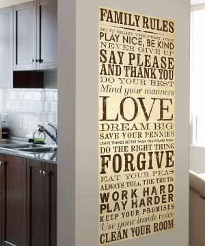 Cream & Brown Family Rules Wall Canvas | Daily deals for moms, babies ...