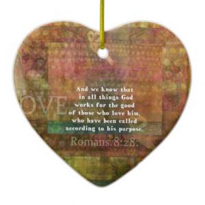 Matthew 7:7 Inspirational Bible Verse Christmas Ornaments