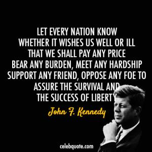 john-f-kennedy- jfk - Liberty Quotes - Liberty Quote