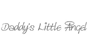 Daddys Little Angel Sticker wall art