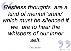 restless thoughts are a kind of mental