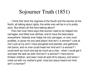 Sojourner Truth Ain't I a Woman 24287275 24287275