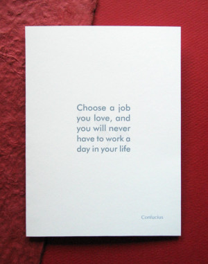 Congratulations New Job Confucius Quote Funny Greeting Card