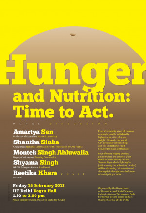 Hunger and Nutrition: Time to Act*