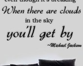 Michael Jackson Inspiration Wall Letters Quotes Decal SMILE Though ...