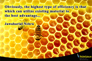 Obviously, the highest type of efficiency is that which can utilize ...