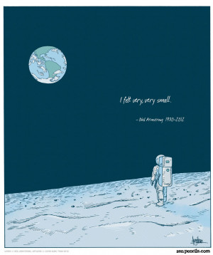 Illustration quotes Neil Armstrong zenpencils