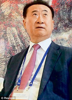 Wang Jianlin left a Chinese property developer and the country 39 s