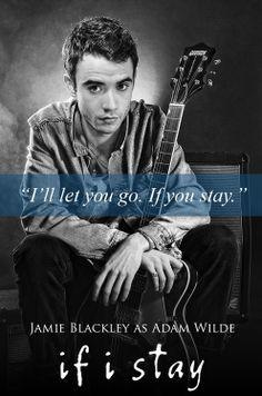 ... : Jamie Blackley as Adam Wilde for If I Stay movie (fan art) More
