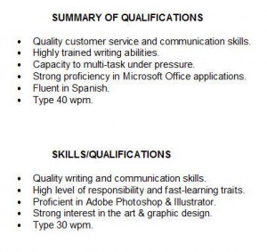 quotes summary for resume  quotesgram s resume summary of qualifications examples