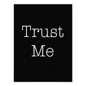 Trust Me Quotes Inspirational Faith Quote Photo Print