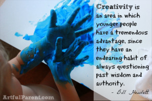 Creativity is an area in which younger people have a tremendous ...