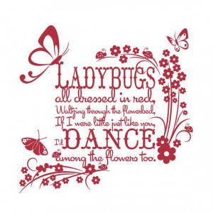 wall decal for a sweet little ladybug baby!