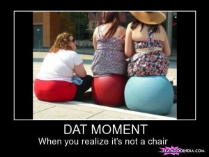 That moment when you realize it's not a chair..