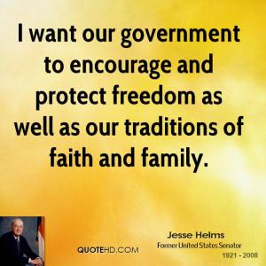 Jesse Helms Faith Quotes