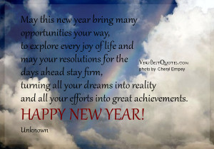 New Year wishes, Happy New Year Quotes and sayings, May this new year ...