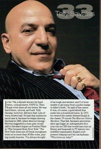 Details about TELLY SAVALAS 1996 Magazine Picture Clipping vk