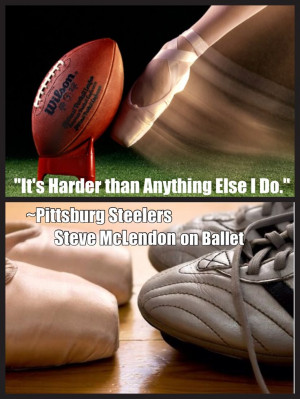 NFL #football player quote about #ballet