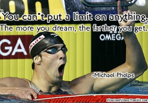 know before, I am a huge swimmer and a big fan of Michael Phelps ...