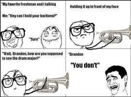 Trombones Band Marching Memes Funny