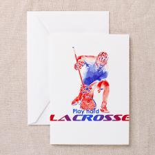 Lacrosse Goalie Greeting Cards