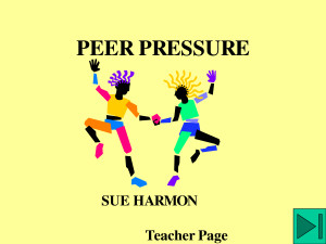 review of related literature about peer pressure Teens may become influenced by their peers to adopt inappropriate behavior various movies can guide confused parents on how to deal with peer pressure.