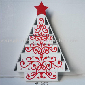 advent calendar wooden christmas trees at wooden christmas tree advent ...