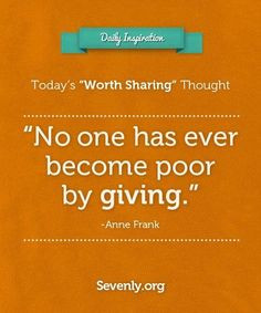... we know, has ever regretted living a life of #generosity :) More
