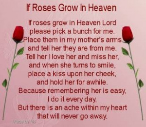 ... heaven we miss miss you mom we all miss our loved mom s that have