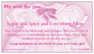 ... from this day on congratulations on the birth of your new baby boy