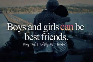 Boys and girls can be best friends
