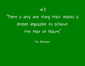 The fear of failure...