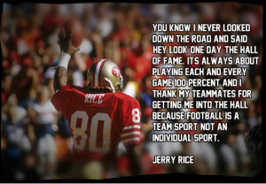 Jerry Rice 100 Percent Image Quote