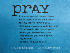 Responses to handmade baptism gift: prayer pillow