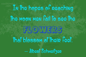 Wise Quote: In the hopes of reaching the moon...