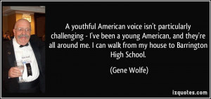 American voice isn't particularly challenging - I've been a young ...